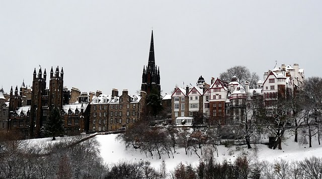 Old Town, Princes Street Gradens, Edinburgh, Scotland