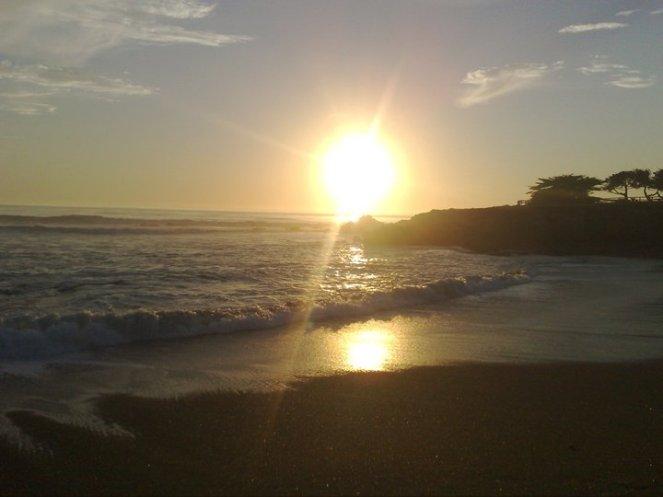 Sunset at Moonstone Beach, Cambria