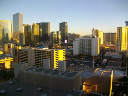 The view from our room at MGM of City Center, Las Vegas