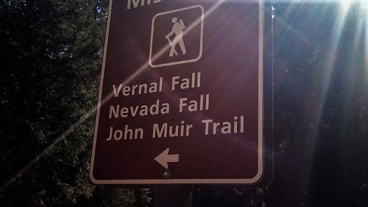 Trailhead sign, Yosemite