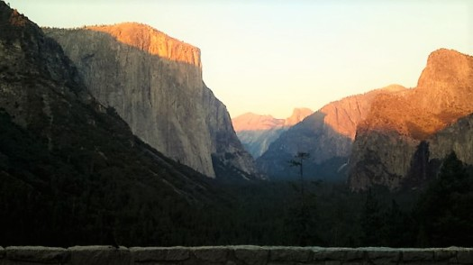 Tunnel View at sunset, Yosemite