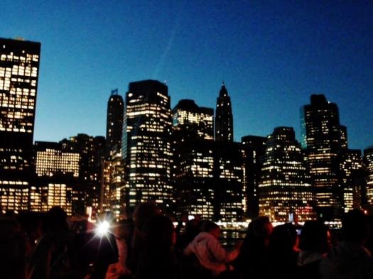 Manhattan skyline from the water