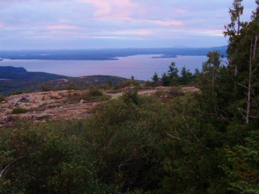 Sunset over Cadillac Mountain