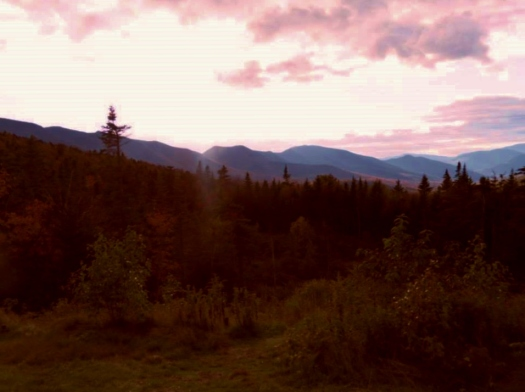 Sunset over Kancamagus Highway