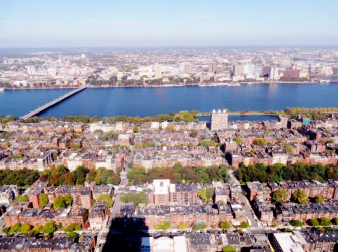 Charles River from the Skywalk Observatory, Boston