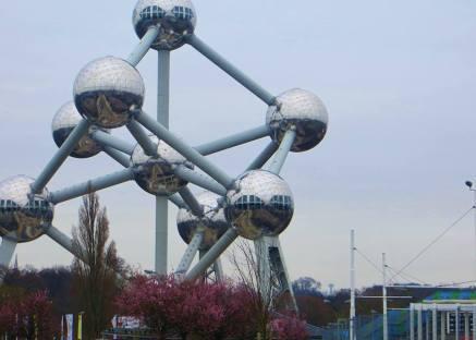 Big Steel Balls at Atomium Parc - Brussels.