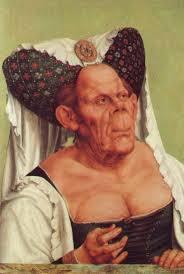 Grotesque face