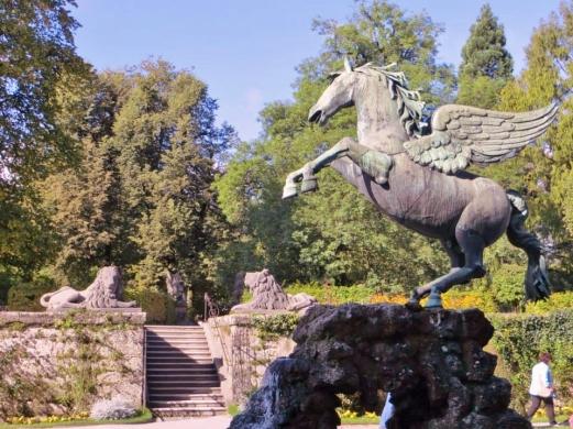 The Pegasus Fountain — at Mirabellgarten Salzburg.