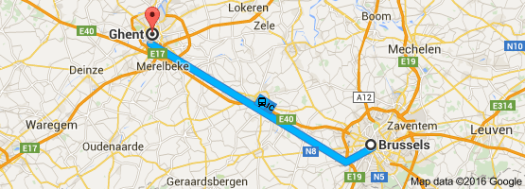 Brussels to Gent