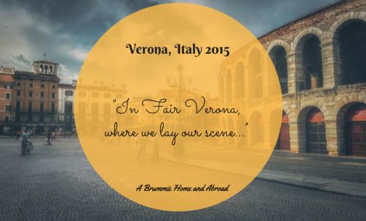 In June 2015, we spent a single night in the beautiful Italian town of Verona