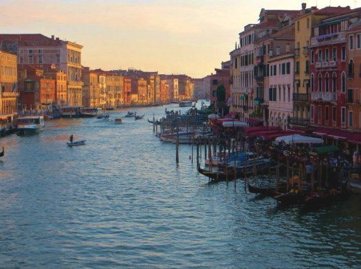 Views of the Grand Canal from Rialto Bridge
