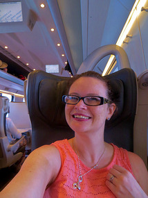 Enjoying rail travel the 1st class way