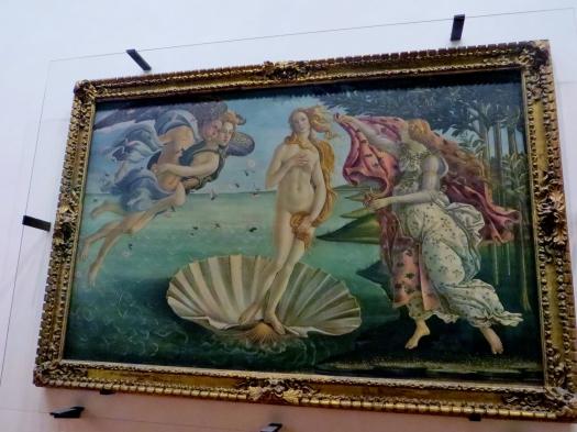 The Birth of Venus, Botticell, Uffizi Gallery, Florence