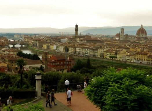 Views over Florence from Pizzale Michelangelo