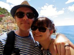 Me and Mr Fletche in Manarola