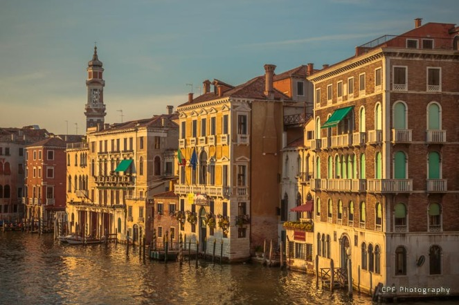 Venice in sunset light