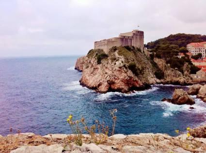 Fort Lovrijenac overlooking the Adriatic