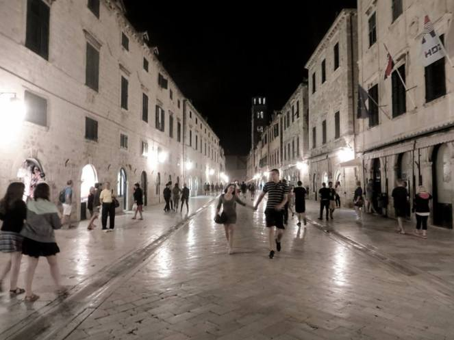 Stradun at night, Dubrovnik, Croatia