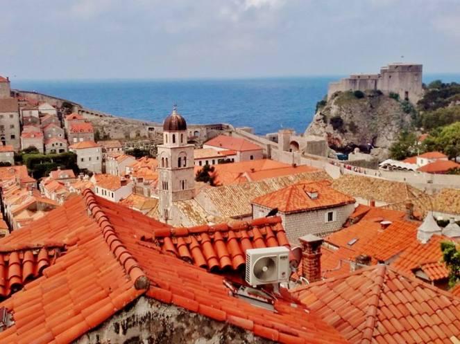 Walking the city walls, Dubrovnik, Croatia