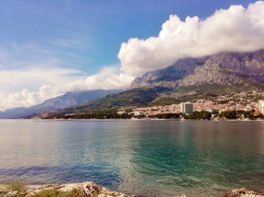 The beautiful town of Makarska, with a quite spectacular mountain backdrop