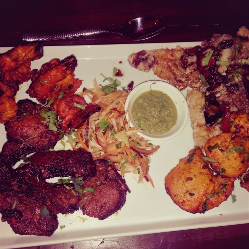 This was the meat and seafood platter served as a sharing starter at the Brum Bloggers event at 1580 Restaurant