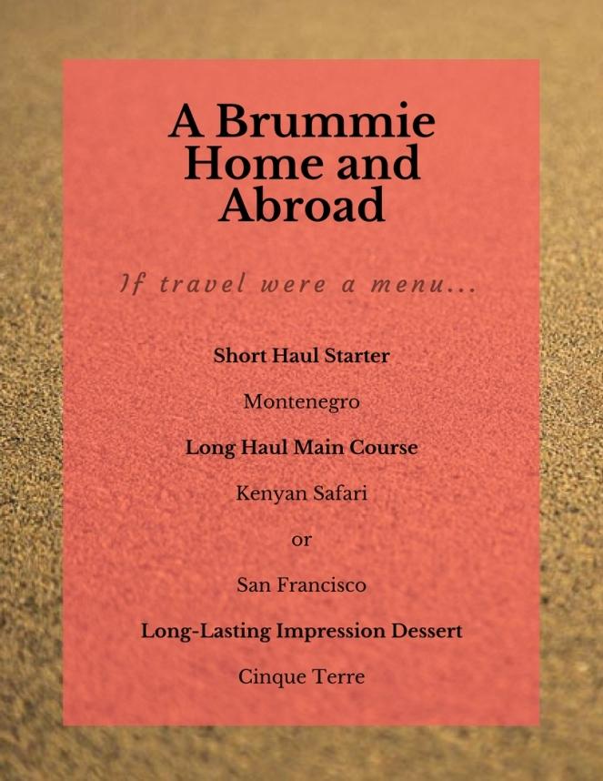 If Travel were a Menu...