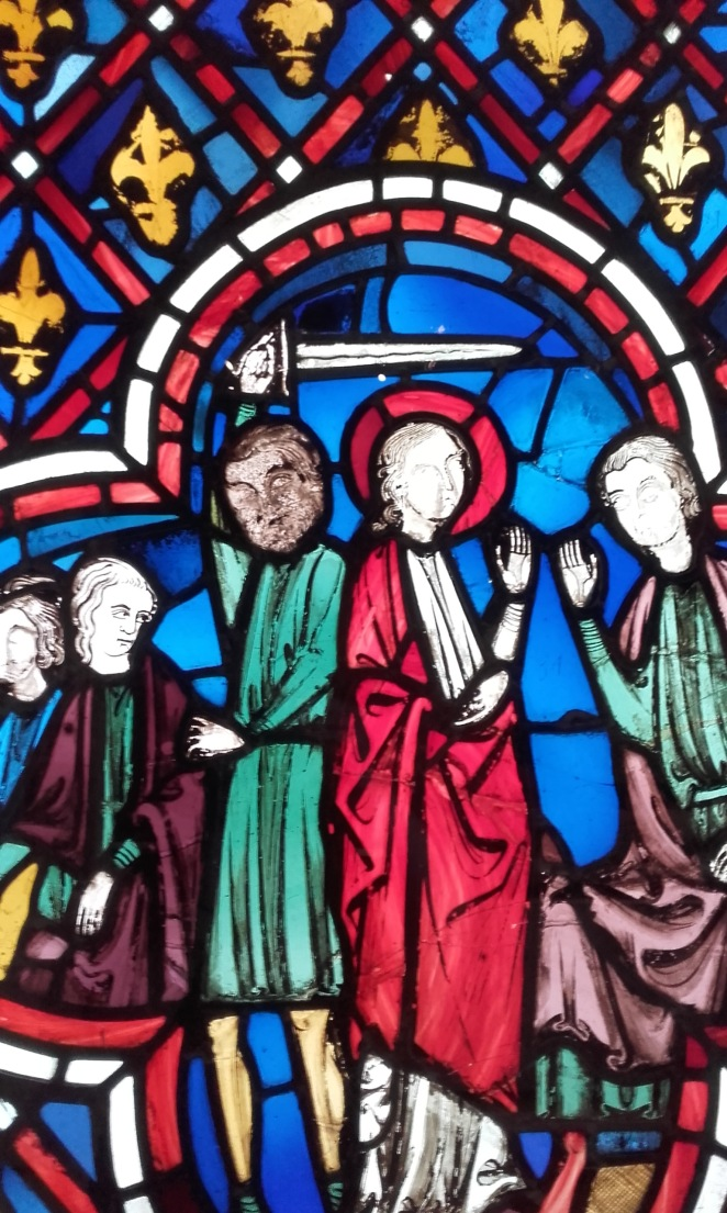 We found this stained glass window in the V&A Museum. Couldn't tell you where it was from because I was distracted by the fact the the guy left of centre looks like Chewbacca...