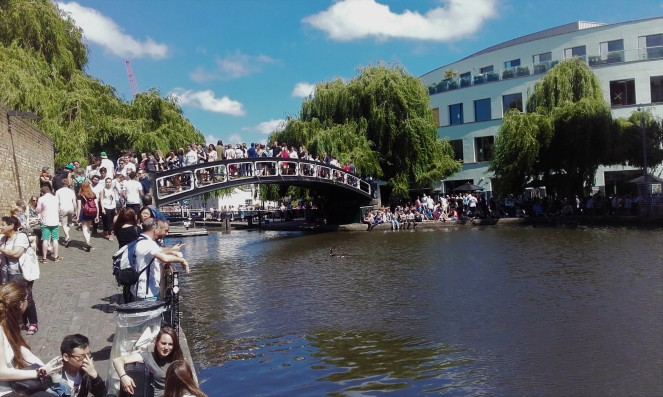 We barely saw a soul on our Regents Canal Walk - probably because they were all here in Camden!