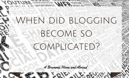 Blogging is Complicated