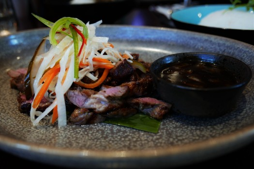 Chargrilled Lamb with black pepper sauce at Siamais Birmingham