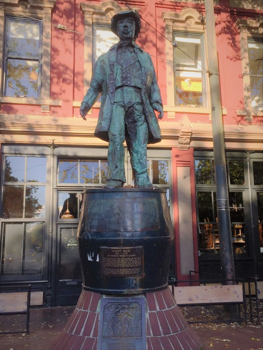 Gassy Jack statue in Gastown, Vancouver