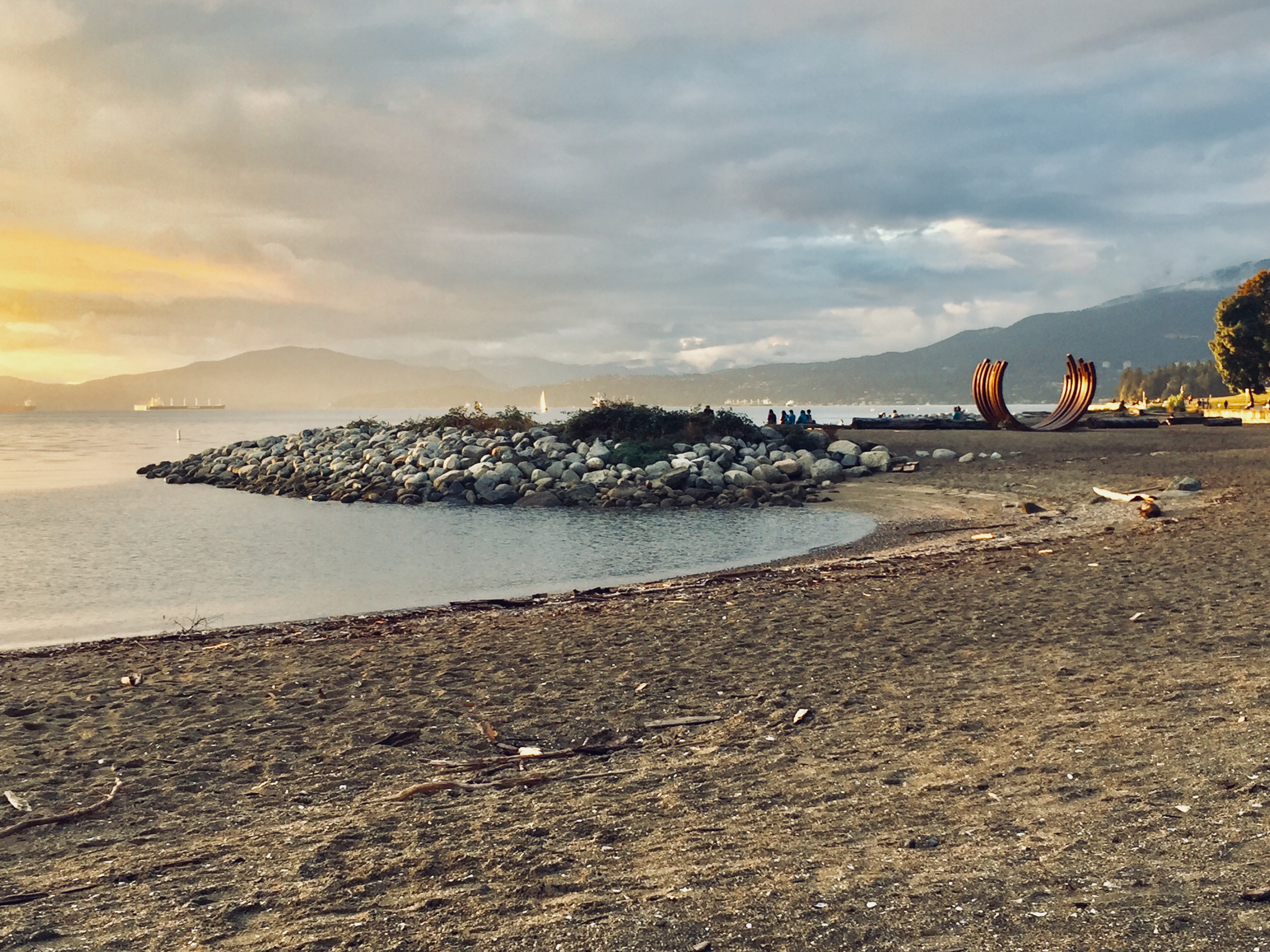 Sunset at the aptly named Sunset Beach in Vancouver