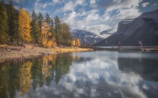 Lake Minnewanka in Alberta, Canada