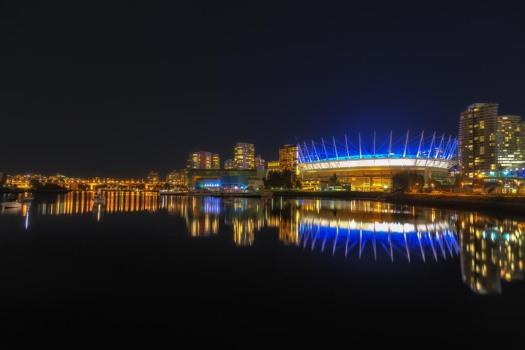 BC Arena at Night
