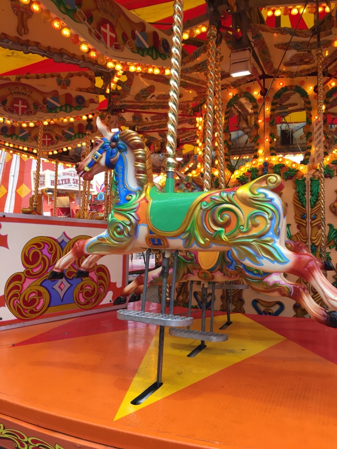 A colourful carousel at London's Winter Wonderland in Hyde Park