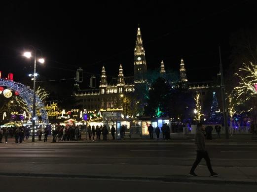 The Christkindlmarkt at Rathausplatz