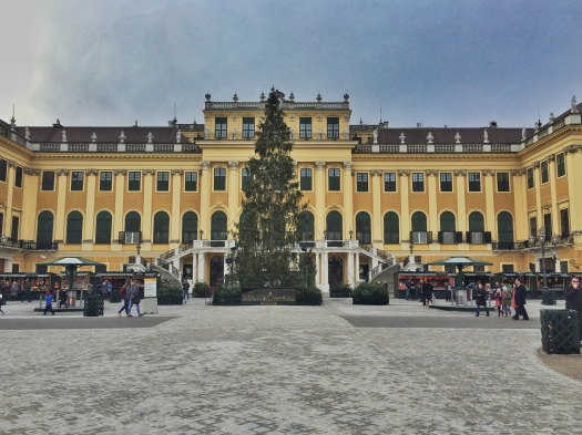 Christmas Market in front of Schonbrunn Palace, Vienna