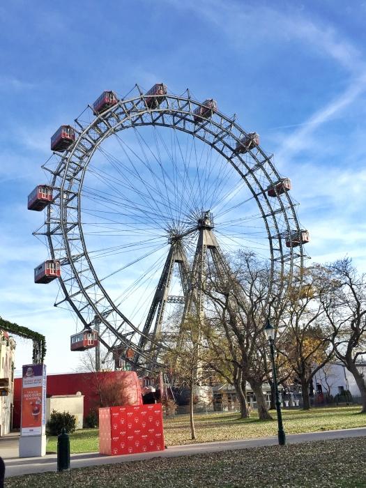 Wiener Riesenrad, Giant Ferris Wheel in Prater, Vienna