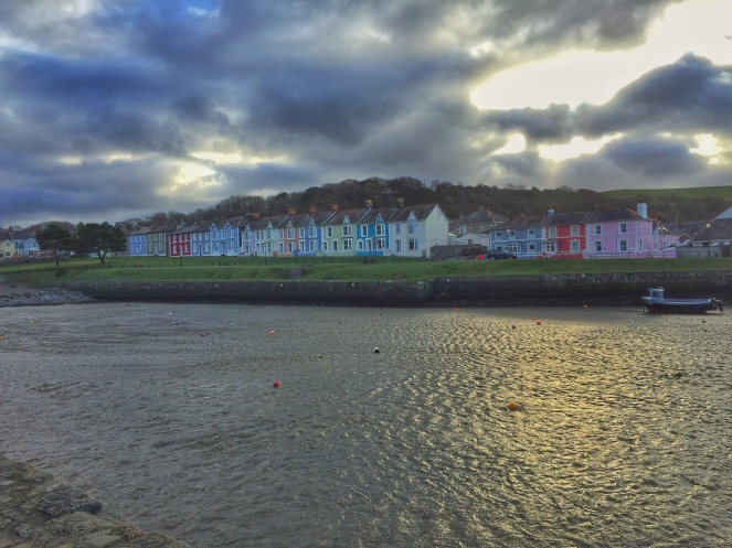 The harbour town of Aberaeron