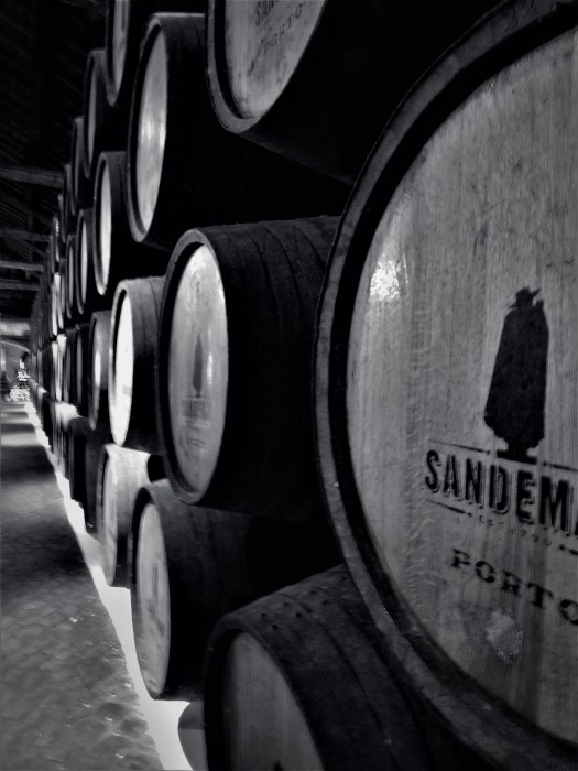 A wine lodge tour at Sandemans in Porto