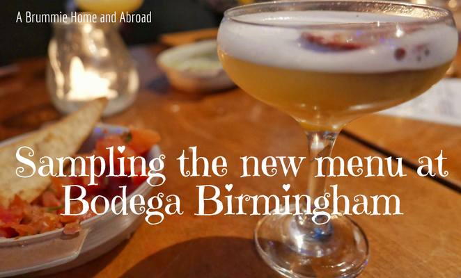 Launch of the new menu at Bodega Birmingham