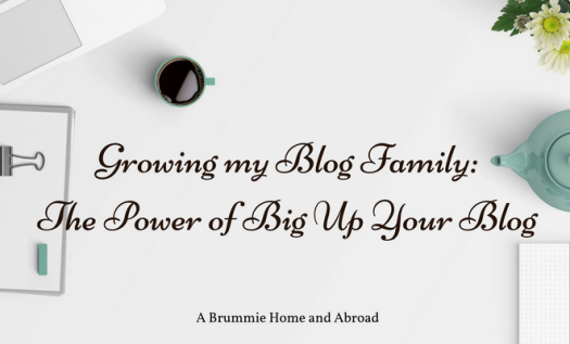 Growing my Blog Family: The Power of Big Up Your Blog