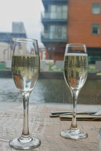 Glasses of fizz: Afternoon Tea at Bardolino Birmingham