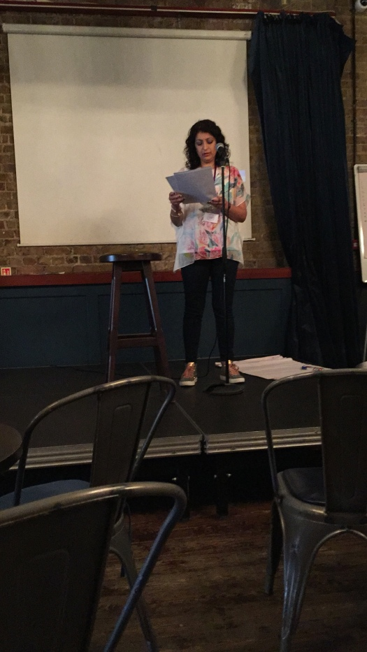 Ritu presenting at the Blogger Bash 2018