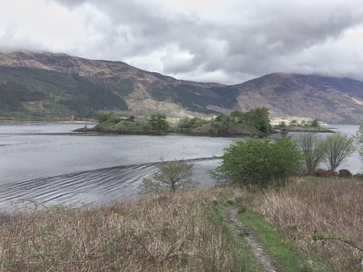 Burial ground on an island in middle of a loch near Glencoe