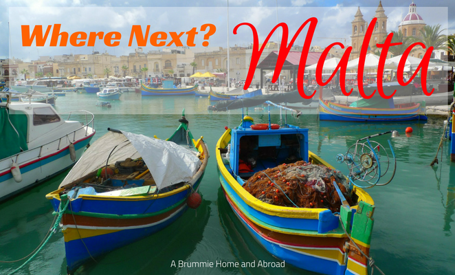 Malta Harbour brightly coloured fishing boats