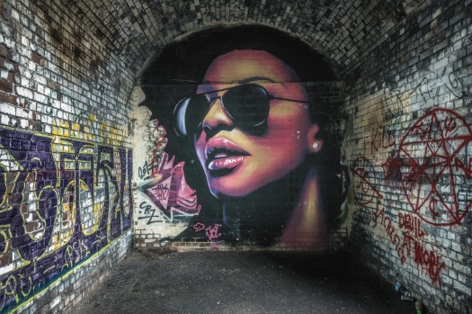 Street Art by Justin Sola, found underneath the arches between Gibb Street and Floodgate Street