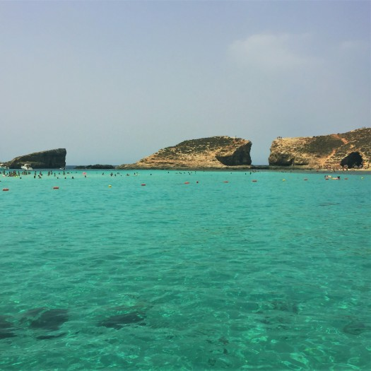 blue lagoon, comino, malta, crystal waters,