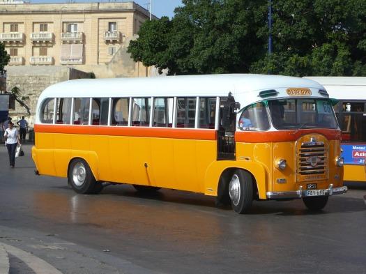 Yellow vintage bus, Malta