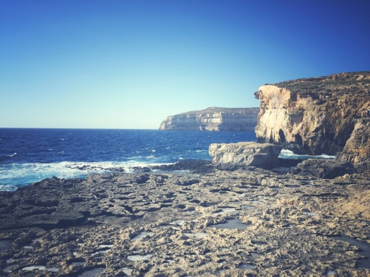 Malta, Gozo, site of Azure Window, Dwejra